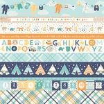 Border Strips Paper - Hello Baby Boy - Echo Park