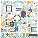Hello Baby Boy Element Sticker - Echo Park