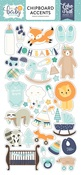 Hello Baby Boy Chipboard Accents - Echo Park