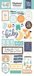 Hello Baby Boy Chipboard Phrases - Echo Park