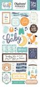 Hello Baby Boy Chipboard Phrases - Echo Park