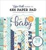 Hello Baby Boy 6 x 6 Paper Pad - Echo Park