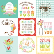 4 X 4 Journaling Card Paper - Spring Fling - Echo Park