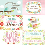 4 X 6 Journaling Card Paper - Spring Fling - Echo Park