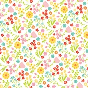 Floral Fun Paper - Easter Wishes - Echo Park
