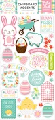 Easter Wishes Chipboard Accents - Echo Park