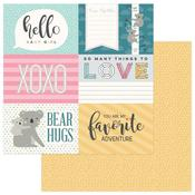 Hello Baby 4 x 6 Card Paper - Snuggle Up Girl - Photoplay