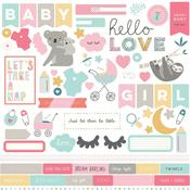 Snuggle Up Girl Element Stickers - Photoplay