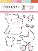 Snuggle Up Girl Etched Die - Photoplay