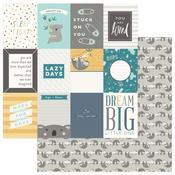 Dream Big 3 x 4 Card Paper - Snuggle Up Boy - Photoplay