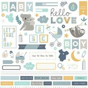 Snuggle Up Boy Element Stickers - Photoplay