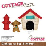 "Doghouse W/Pup & Hydrant 1.1"" To 2.7"" - PRE ORDER"
