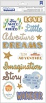 Boy Rose Gold Glitter Phrase & Icon Thickers - Little Adventurer - Pink Paislee