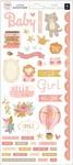Girl Rose Gold Cardstock Stickers - Little Adventurer - Pink Paislee