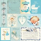 Boy Swaddle Paper Eight - Authentique