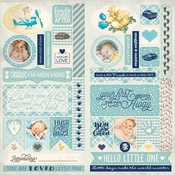 Boy Swaddle Elements - Authentique