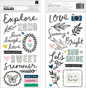 Phrase & Icon Glossy Puffy - Sunny Days - Crate Paper