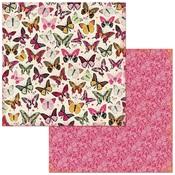 Butterflies Paper - Sweet Clementine - Bo Bunny