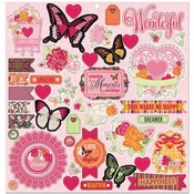 Sweet Clementine Chipboard Stickers - Bo Bunny