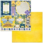 Bees Knees Paper - Bee-utiful You - Bo Bunny