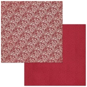 Cranberry Lace Paper - Double Dot - Bo Bunny