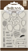 Balloon Party Clear Stamps - Bo Bunny - PRE ORDER