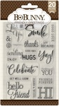 Friendly Greetings Clear Stamps - Bo Bunny - PRE ORDER