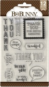 Gratitude Clear Stamps - Bo Bunny - PRE ORDER