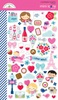 French Kiss Mini Icon Stickers - Doodlebug