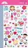 French Kiss Mini Icon Stickers - Doodlebug