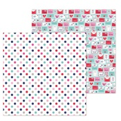 Love You Dots Paper - French Kiss - Doodlebug