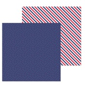 Navy Dot Paper - French Kiss - Doodlebug
