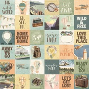2x2 Element Paper - Simple Vintage Traveler - Simple Stories - PRE ORDER
