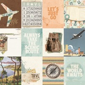 3x4 Element Paper - Simple Vintage Traveler - Simple Stories - PRE ORDER