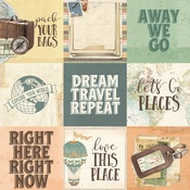 4x4 Element Paper - Simple Vintage Traveler - Simple Stories - PRE ORDER