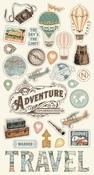 Simple Vintage Traveler Chipboard Stickers - Simple Stories - PRE ORDER
