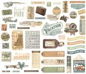 Simple Vintage Traveler Bits & Pieces - Simple Stories