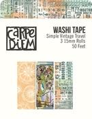 Simple Vintage Traveler Washi Tape - Simple Stories - PRE ORDER