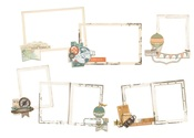 Simple Vintage Traveler Layered Frames - Simple Stories