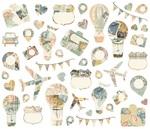 Simple Vintage Traveler Collage Bits & Pieces - Simple Stories