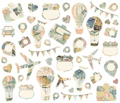 Simple Vintage Traveler Collage Bits & Pieces - Simple Stories