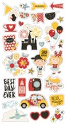 Say Cheese 4 Chipboard Icon Stickers - Simple Stories