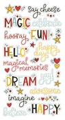 Say Cheese 4 Chipboard Word Stickers - Simple Stories