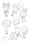 Happy Kids Stamps - Say Cheese 4 - Simple Stories