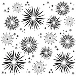 Fireworks 6x6 Stencil Say Cheese 4 - Simple Stories