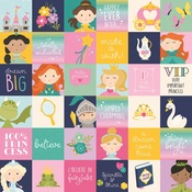 2x2 Elements Paper - Little Princess - Simple Stories - PRE ORDER