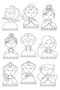 Pretty Princess Stamps Little Princess - Simple Stories