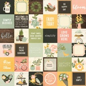 2x2 Elements Paper - Spring Farmhouse - Simple Stories
