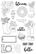 Spring Farmhouse Live Simply Stamp - Simple Stories