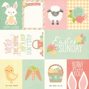 3x4 & 4x6 Elements Paper - Bunnies & Baskets - Simple Stories